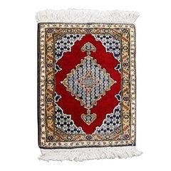 Vintage Diminutive Tabriz Style Carpet Rug