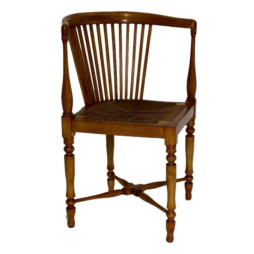 Jugendstil Vintage Maple Tree Adolf Loos Corner Chair Vienna Austria circa 1900