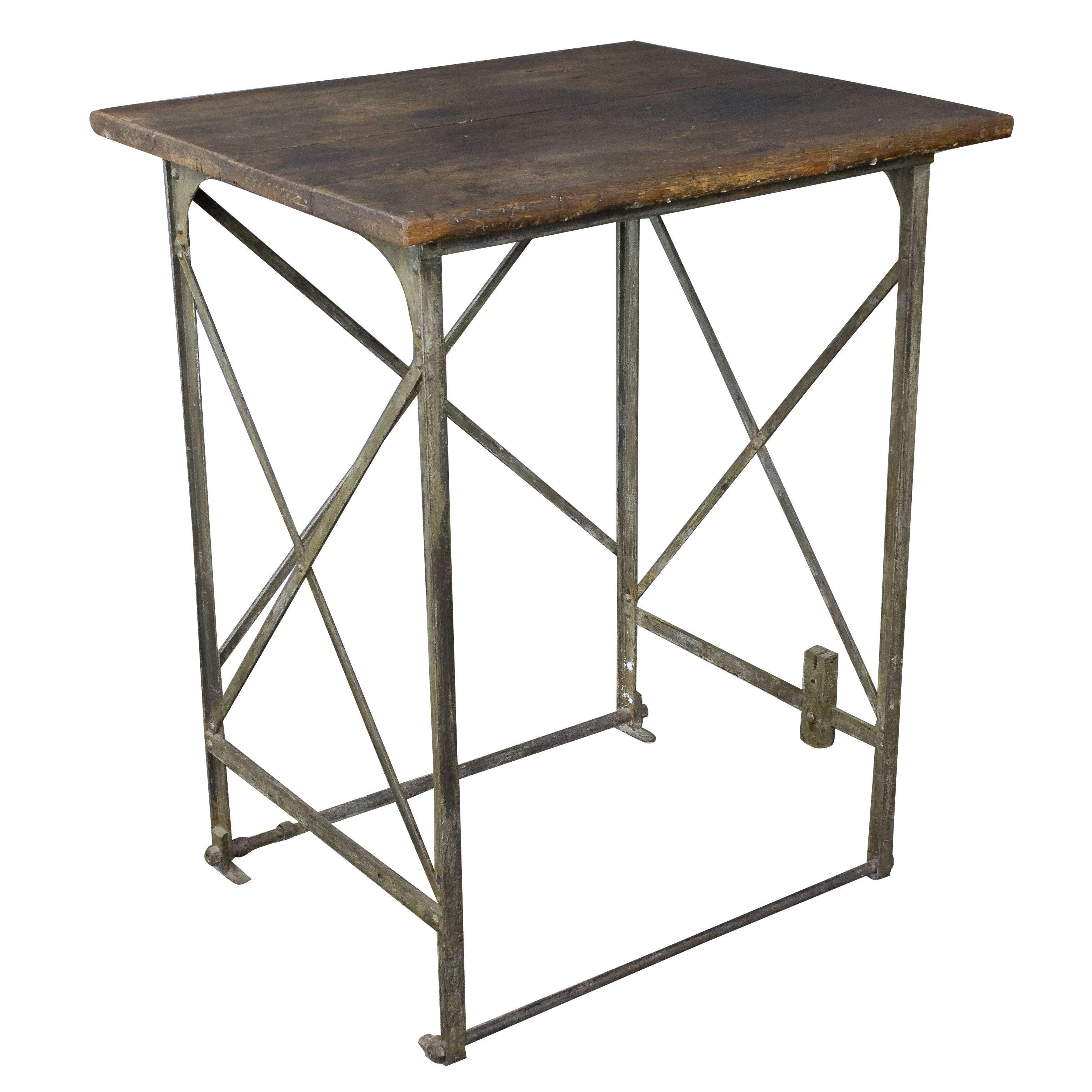Early 20th Century French Industrial Factory Table