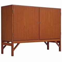 Borge Mogensen Danish Cabinet in Teak and Brass