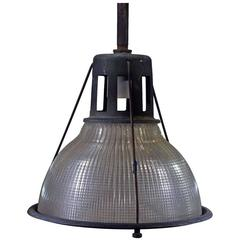 Industrial Ribbed Pendant Lamp by Holophane **Saturday Sale **