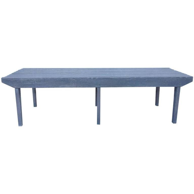 Large Oak Bench or Cocktail Table after George Nelson
