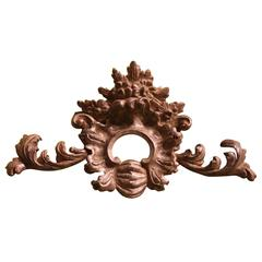 19th Century Italian Hand Carved Silver Wood Frieze or Over Door