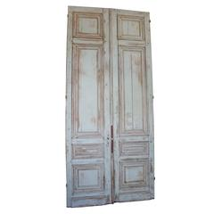 Set of Three 19th Century Large Entry Doors