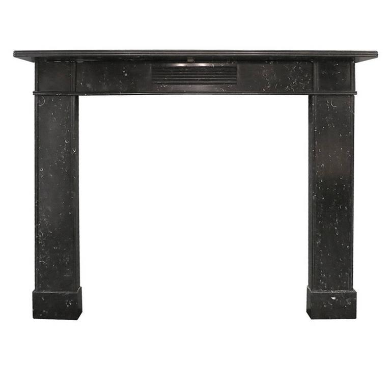 antique irish kilkenny marble fireplace mantel 1
