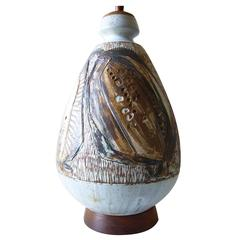 Joel Edwards Abstract Modern Stoneware Lamp
