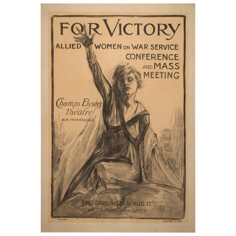 Recruitment Poster for Women of War Services by Neysa McMein For Sale