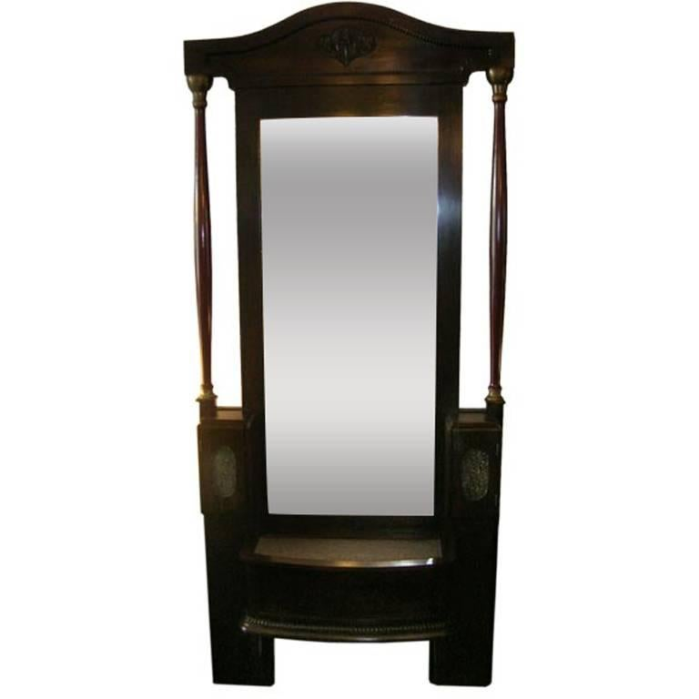 French Empire Large Self Standing Mirror