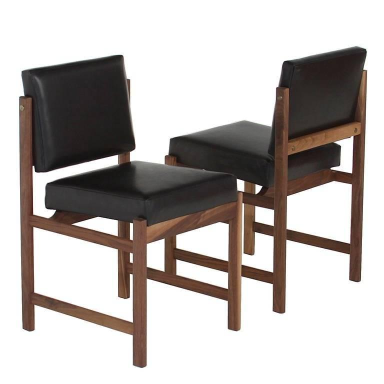 Basic Pivot Back Dining Chair in Walnut by Thomas Hayes Studio 1