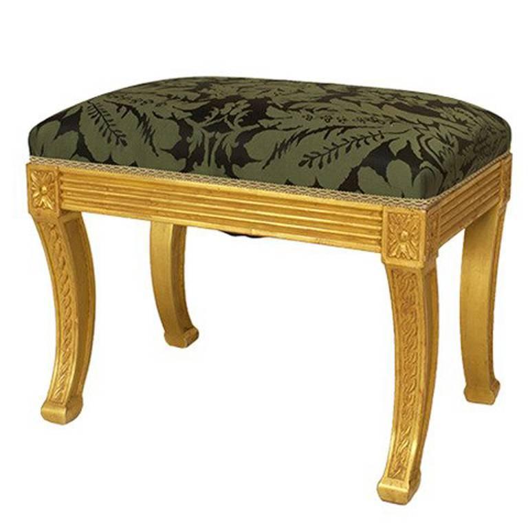 20th c. English Regency Style Giltwood Bench