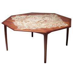 """Rosewood Folding Dining Table """"Mother Butterfly"""" by Li Naihan"""