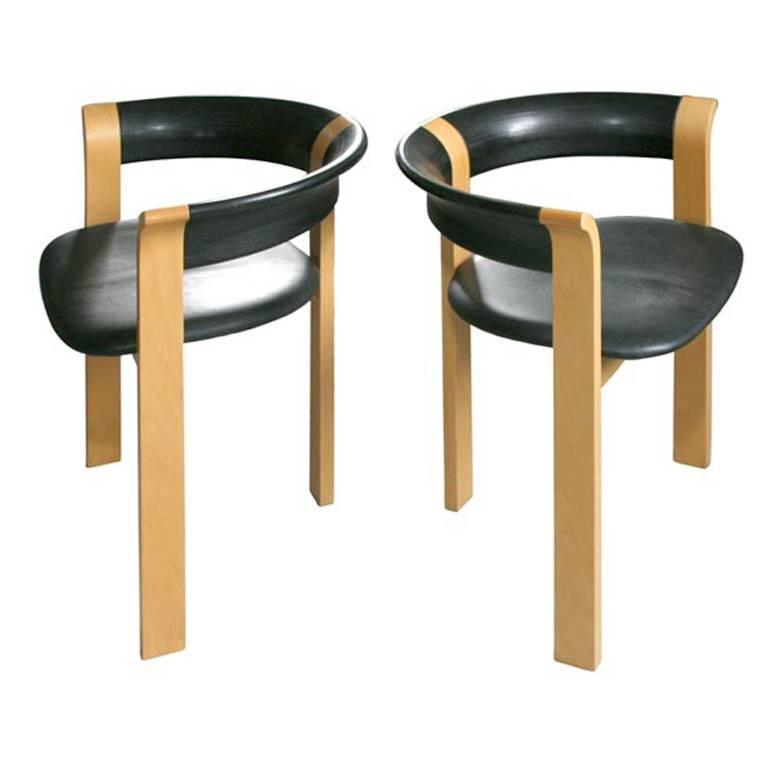 Pair of Chairs by Rud Thygesen and Johnny Sorensen For Sale