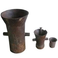 19th Century Iron Apothecary Mortars
