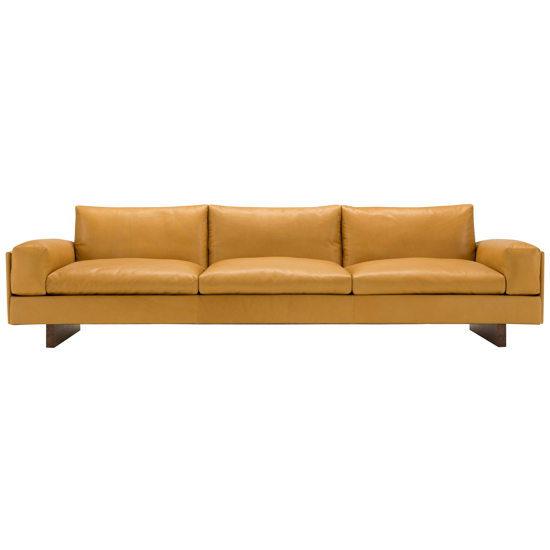 Amura 'Tau' Sofa in Coffee Leather by Emanuel Gargano