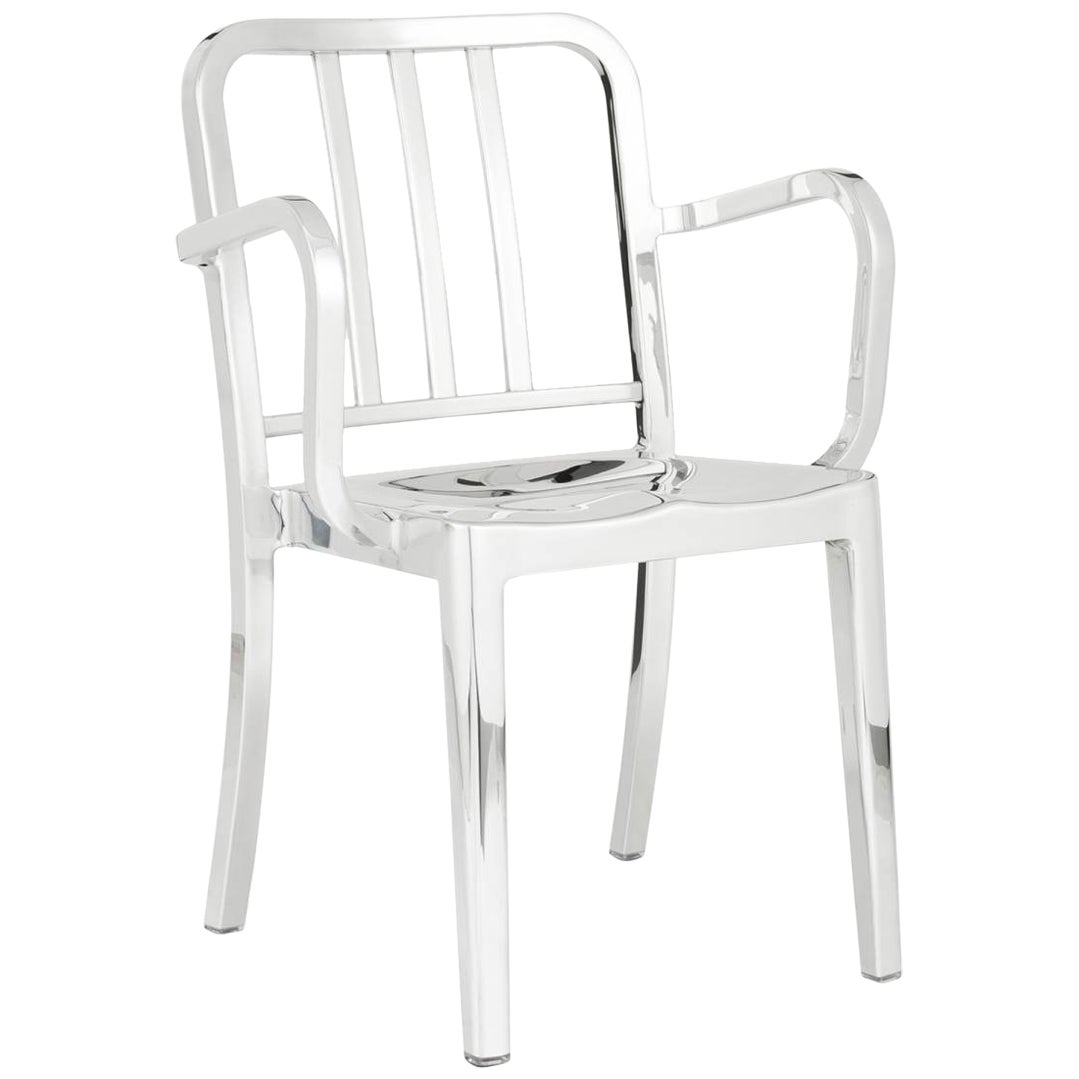 Emeco Heritage Armchair in Polished Aluminum by Philippe Starck