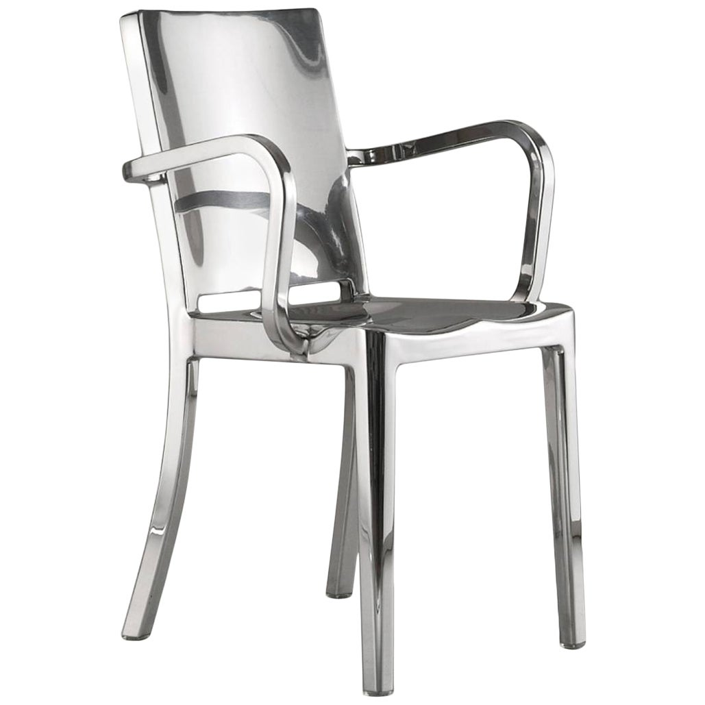 Emeco Hudson Armchair in Polished Aluminum by Philippe Starck