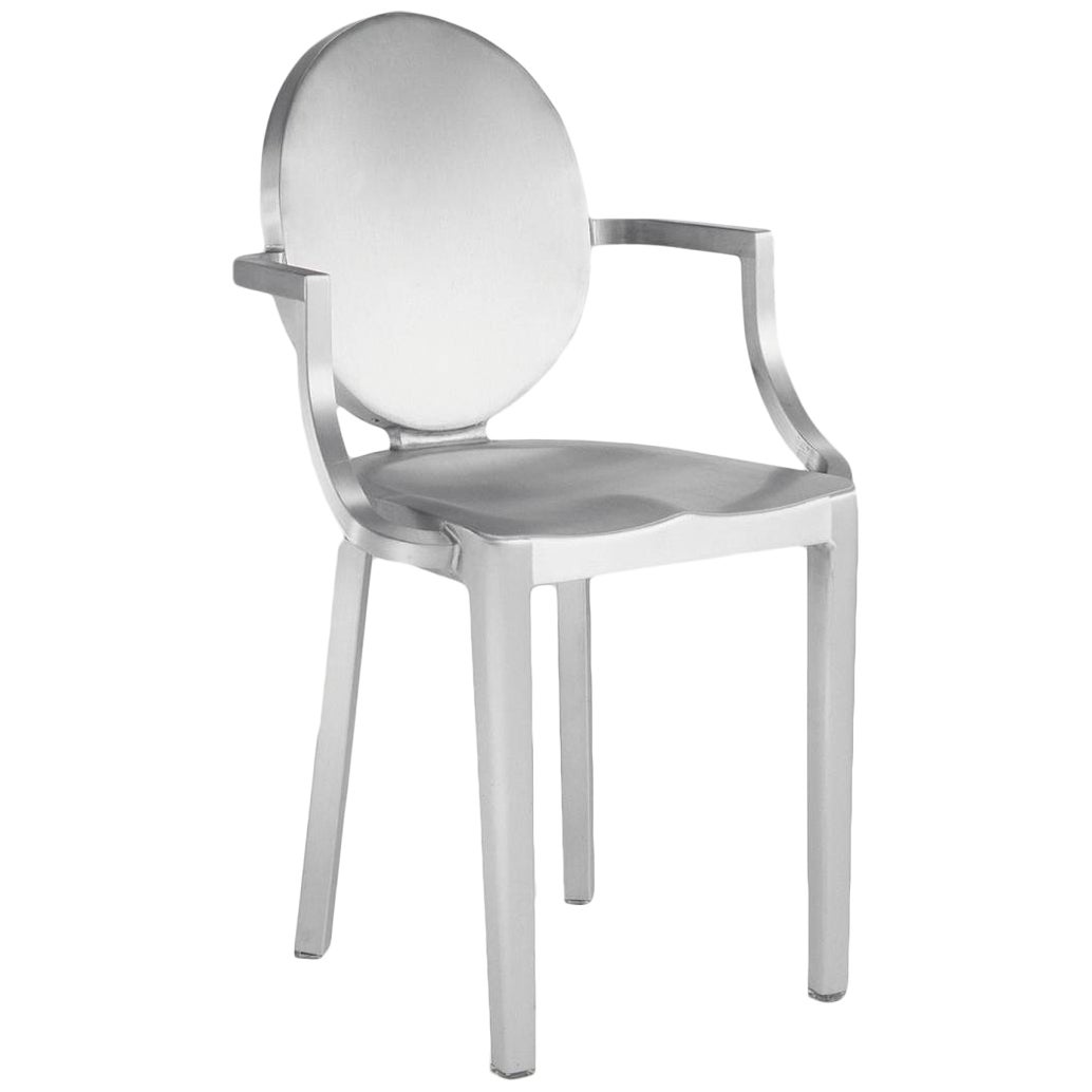 Emeco Kong Armchair in Brushed Aluminum by Philippe Starck