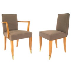 Set of 10 1940's French Chairs Attrib. to Jean Pascaud