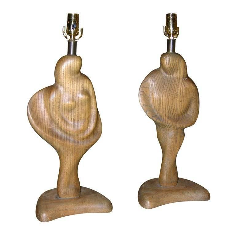 Pair of Vintage Sculptural Lamps