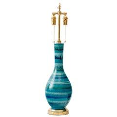 Italian Striped Glaze Ceramic Lamp