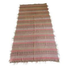 Large 19th Century Kashmir Stripe Paisley Shawl