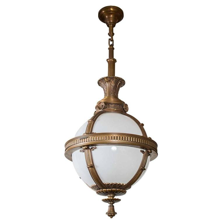 Monumental Pendant Globe or Orb from Railroad Station