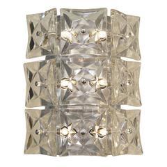 Massive Kinkeldey Square Crystal Sconces