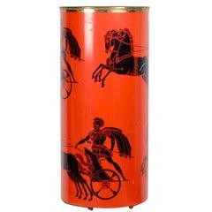 """Rare Umbrella Stand """"Bighe"""" designed by Piero Fornasetti, Italy circa 1960"""