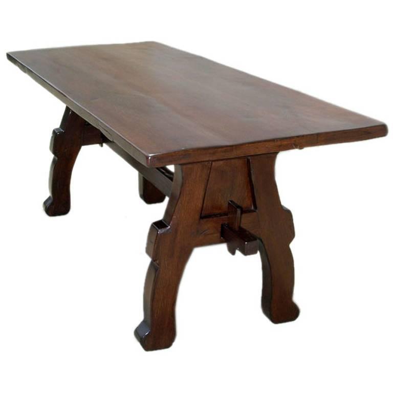 Trestle Table In Vintage Oak 1 Part 51