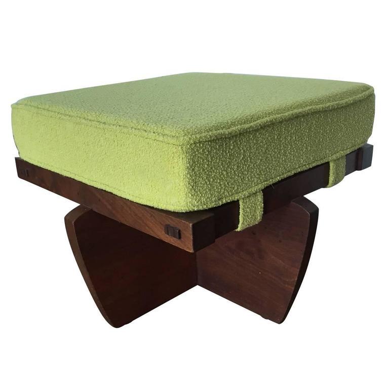 Walnut Greenrock Stool or Bench with cushion by George Nakashima