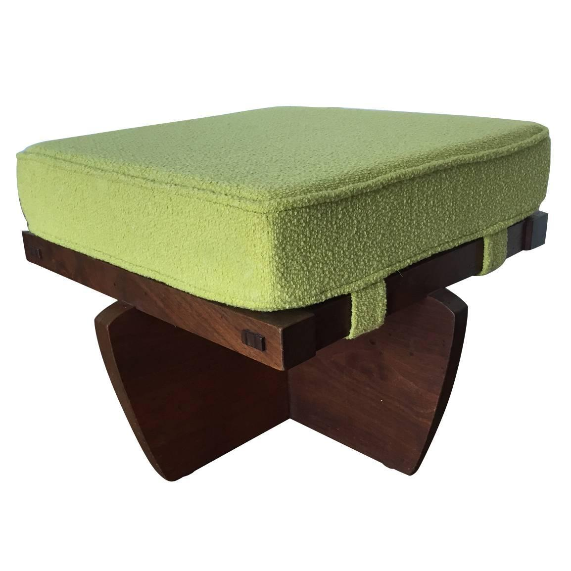 Walnut Greenrock Stool Or Bench With Cushion By George