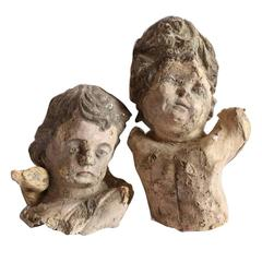 Pair of Papier Mâché Angels