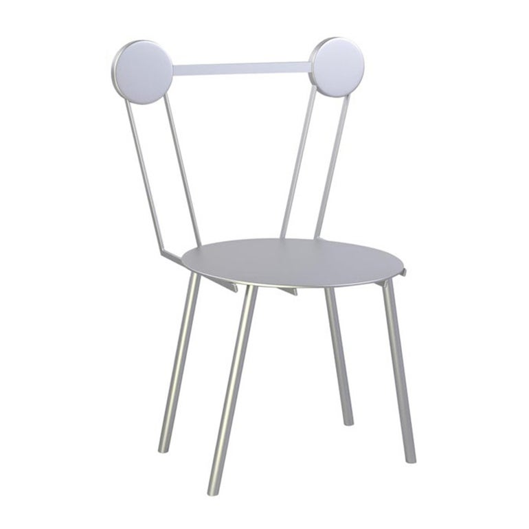 Contemporary Chair Haly Aluminium by Chapel Petrassi