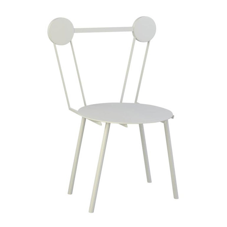 Contemporary Chair White Haly Aluminium by Chapel Petrassi