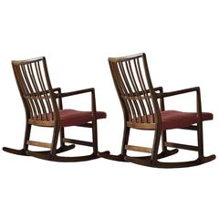 Hans Wegner Set of Two 'ML-33' Rocking Chairs