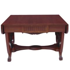 Baltic Empire Style Sofa or Writing Table, circa 1910 in Mahogany