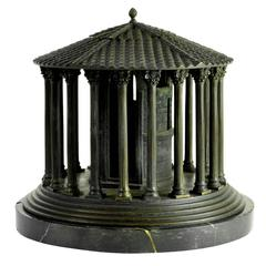 Impressive, highly-detailed, mid 19th c. bronze model of Temple of Vesta, Rome