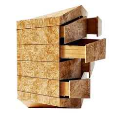"Contemporary Latvian Burl Chest of Drawers ""PERSPICERE"" by Janis Straupe"