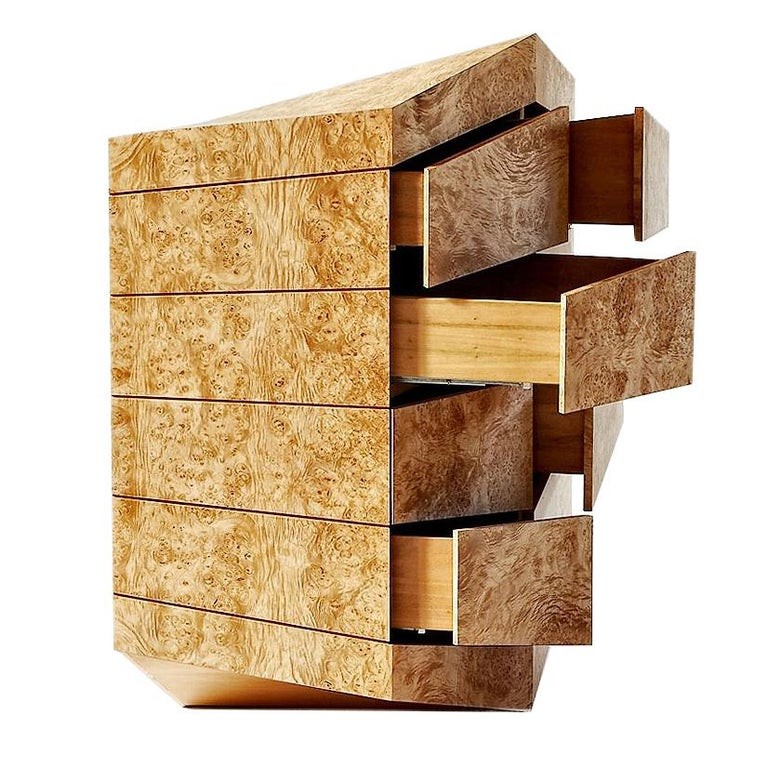 """Contemporary Latvian Burl Chest of Drawers """"PERSPICERE"""" by Janis Straupe For Sale"""