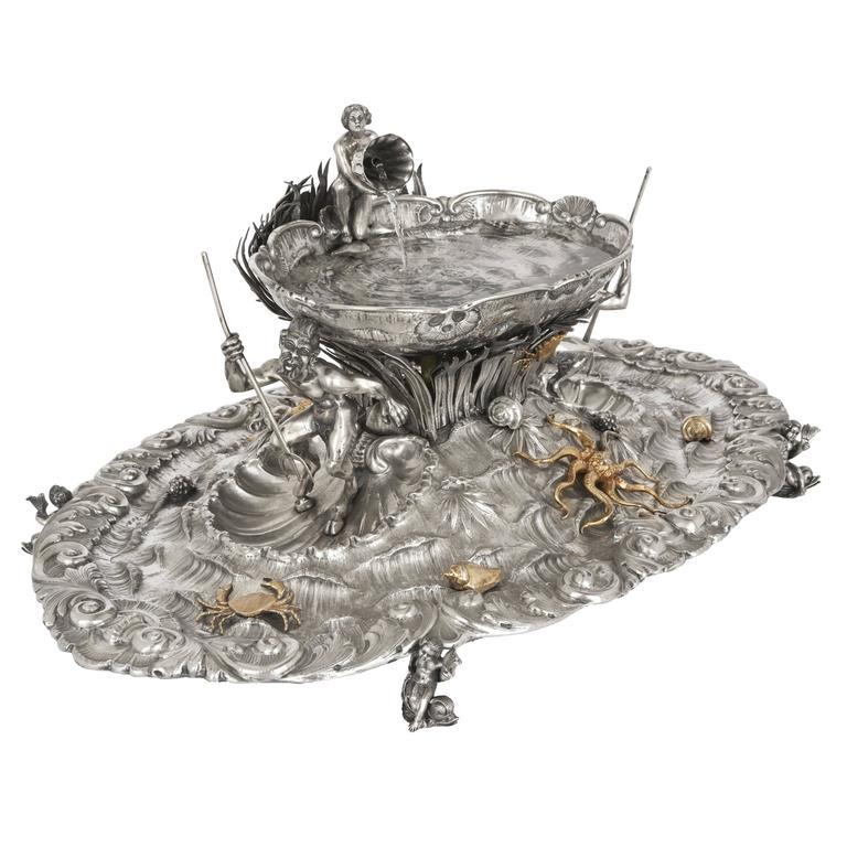 Fine Silver Table Fountain