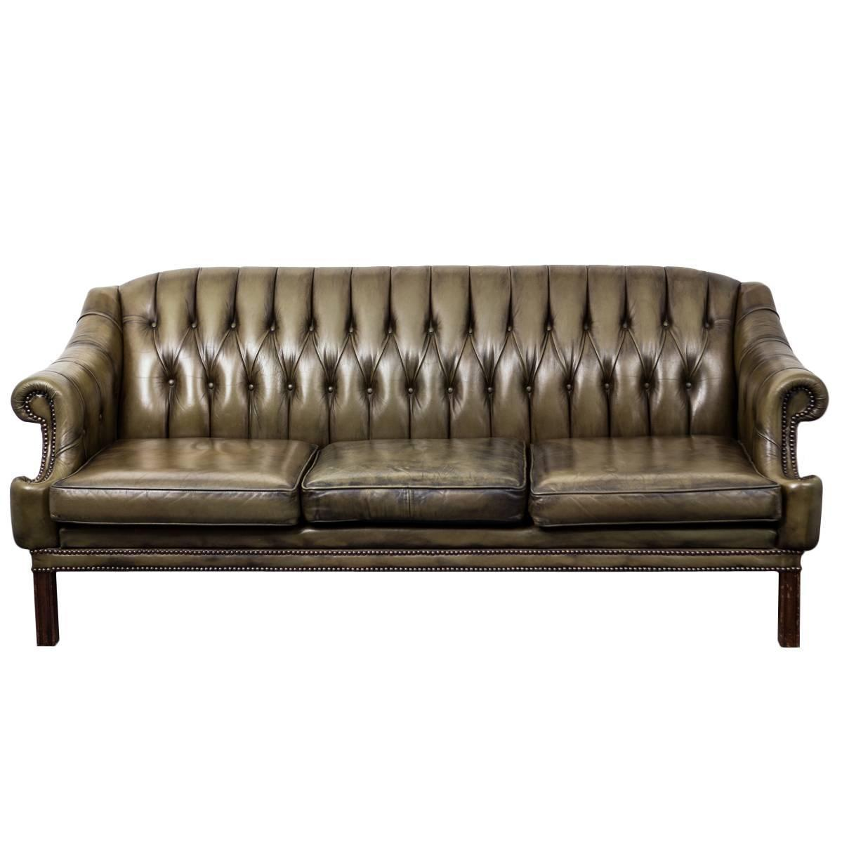 Green leather sofa england at 1stdibs for England leather sectional sofa