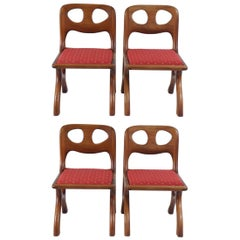 70's American craftsman walnut chairs only