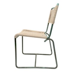 Walter Lamb Bronze Dining Chairs-Armless