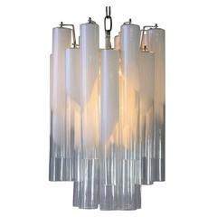 Mazzega Ceiling Lamp with Glass Tubes, Italy