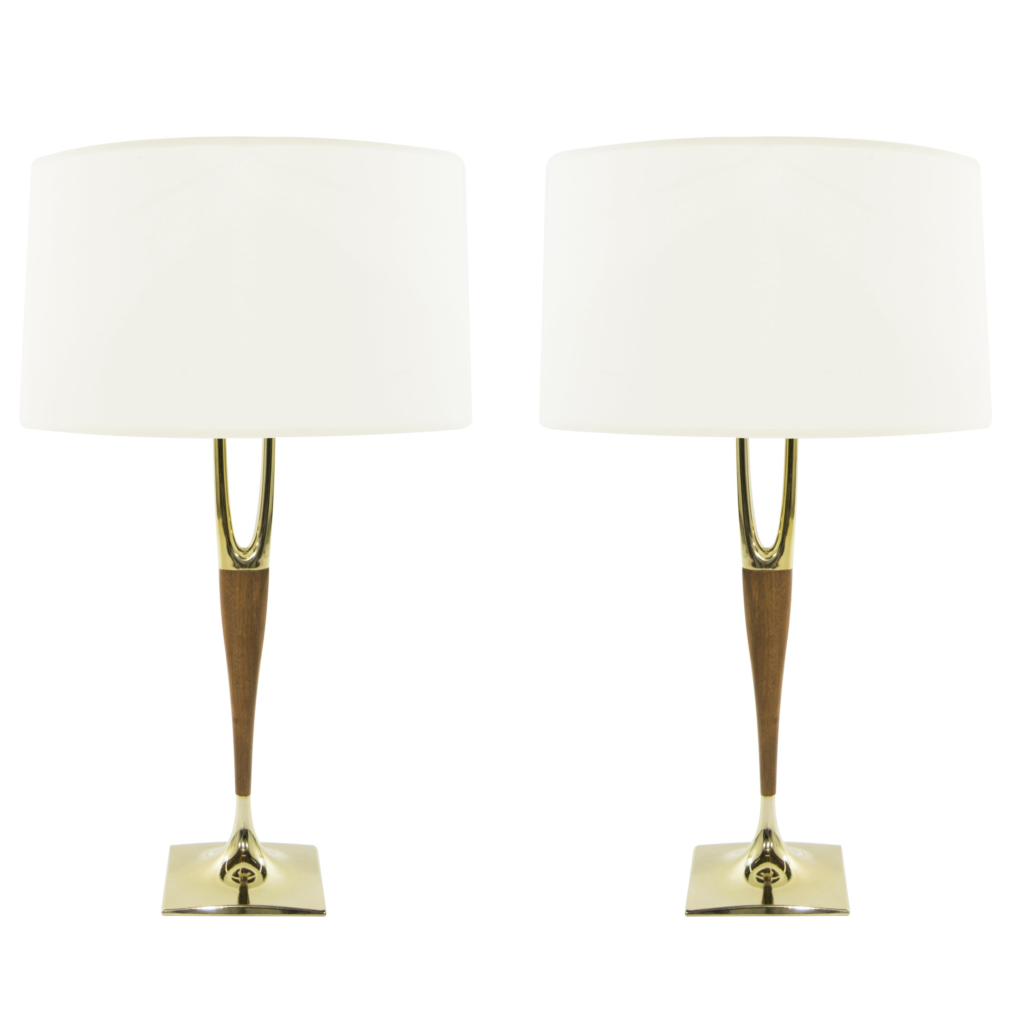 Gerald Thurston for Laurel Lamp Company Wishbone Table Lamps