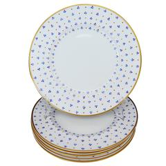 Set of Six Tiffany & Co. Gold Rimmed French Plates