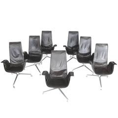 Set of Seven Bird Chairs by Preben Fabricius