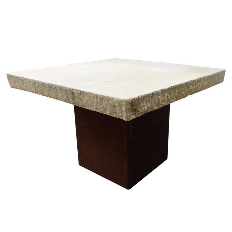 Industrial Modern Garden Dining Table For Sale