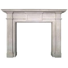 Georgian Style Portland Stone Fireplace Mantel