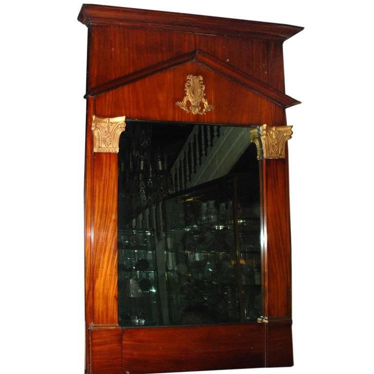 Period Empire Trumeau Mirror